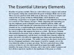 the essential literary elements