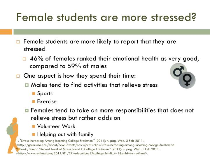 Female students are more stressed?