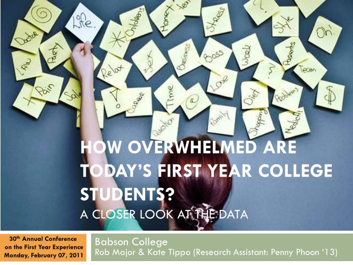 How overwhelmed are today s first year college students a closer look at the data