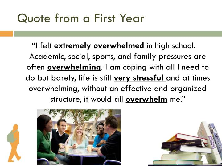 Quote from a First Year