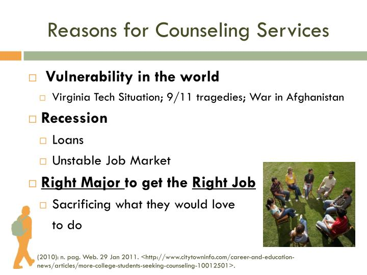 Reasons for Counseling Services