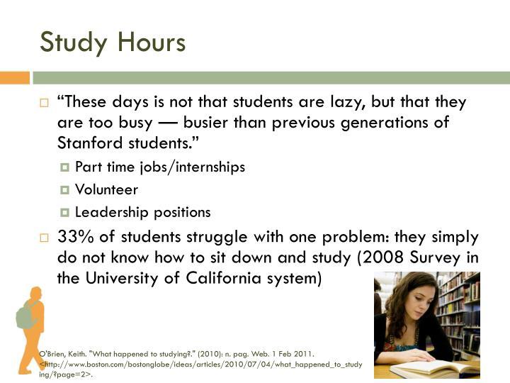 Study Hours