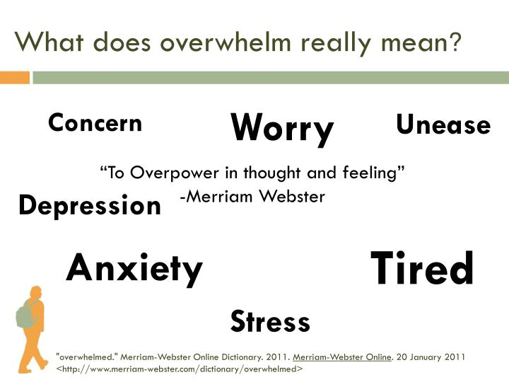 What does overwhelm really mean