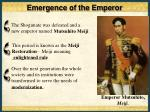 emergence of the emperor