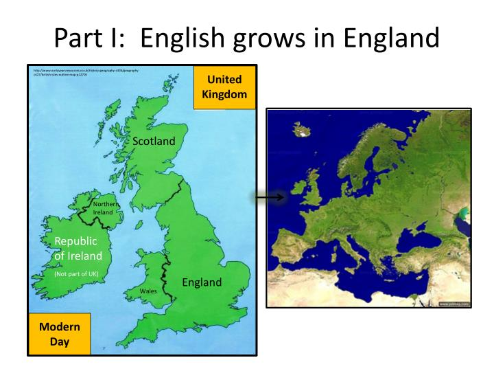 Part i english grows in england