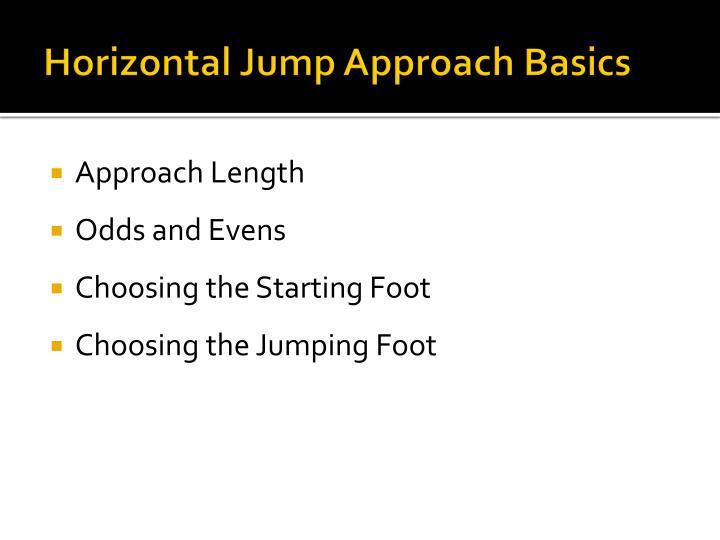 Horizontal Jump Approach Basics