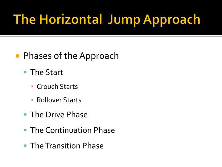 The Horizontal  Jump Approach