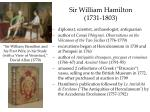 sir william hamilton 1731 1803