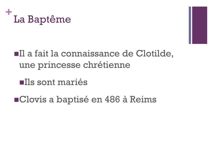 La Baptême