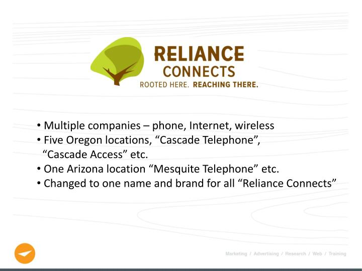 Multiple companies – phone, Internet, wireless