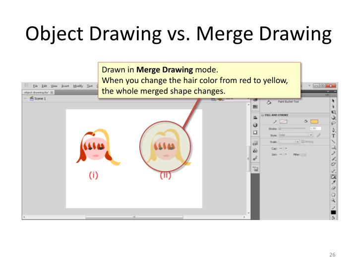 Object Drawing vs. Merge Drawing