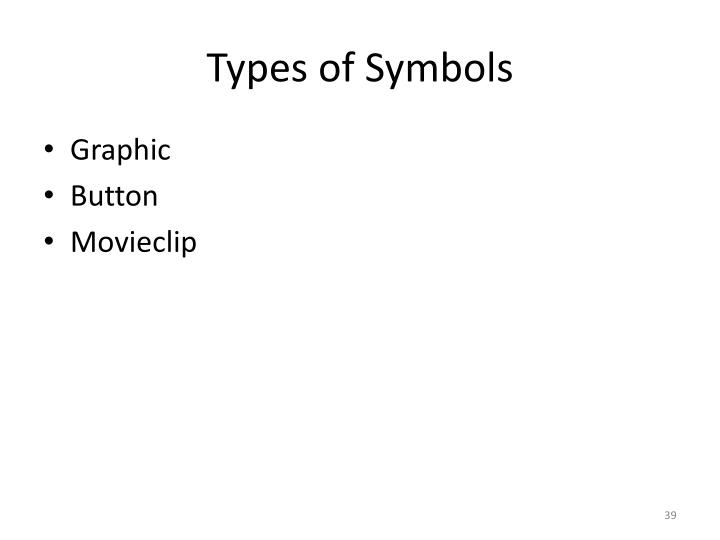 Types of Symbols