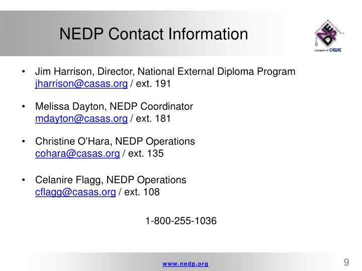 NEDP Contact Information