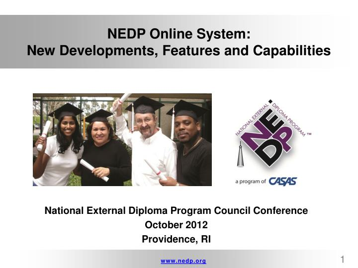 Nedp online system new developments features and capabilities
