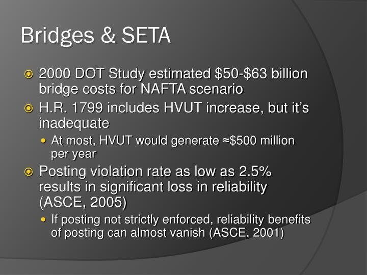 Bridges & SETA