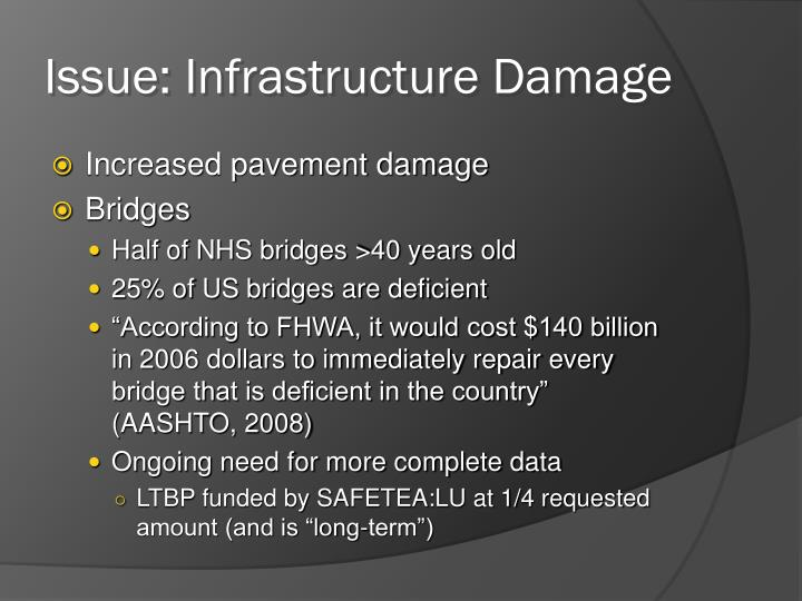 Issue: Infrastructure Damage