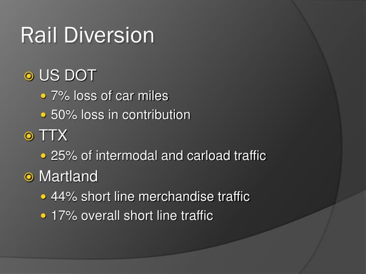 Rail Diversion