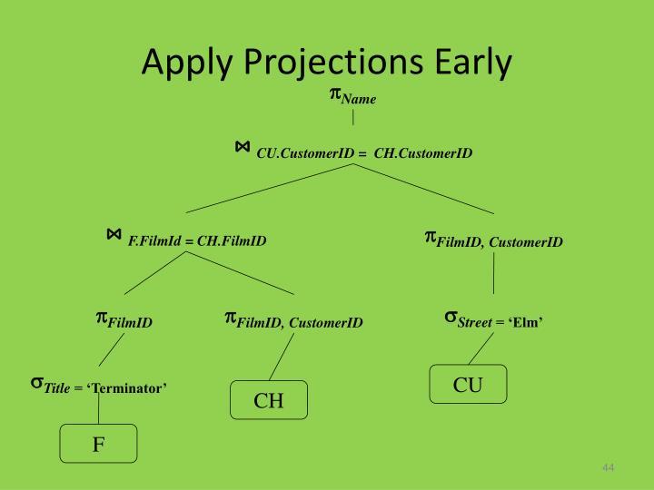 Apply Projections Early