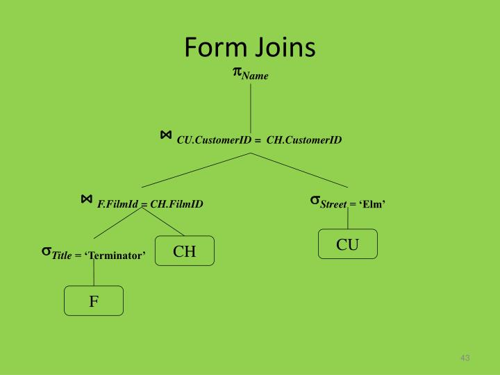Form Joins