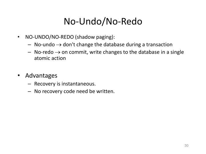 No-Undo/No-Redo