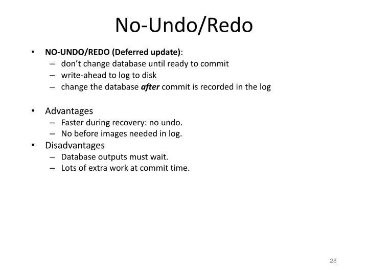 No-Undo/Redo