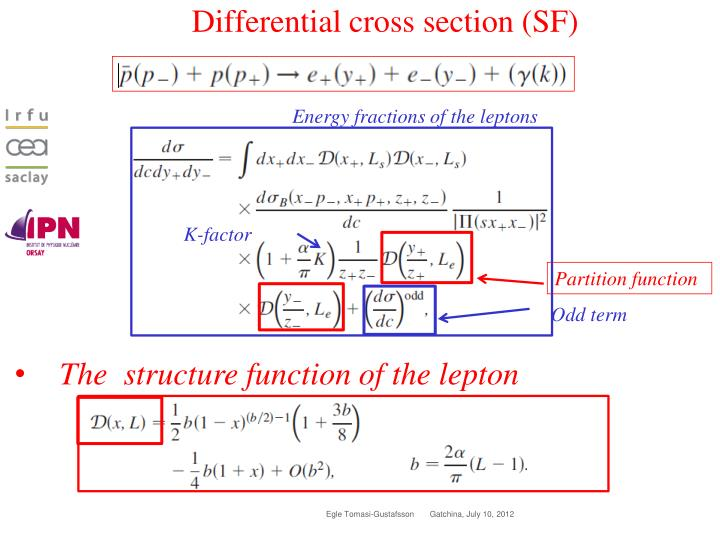 Differential cross section (SF)