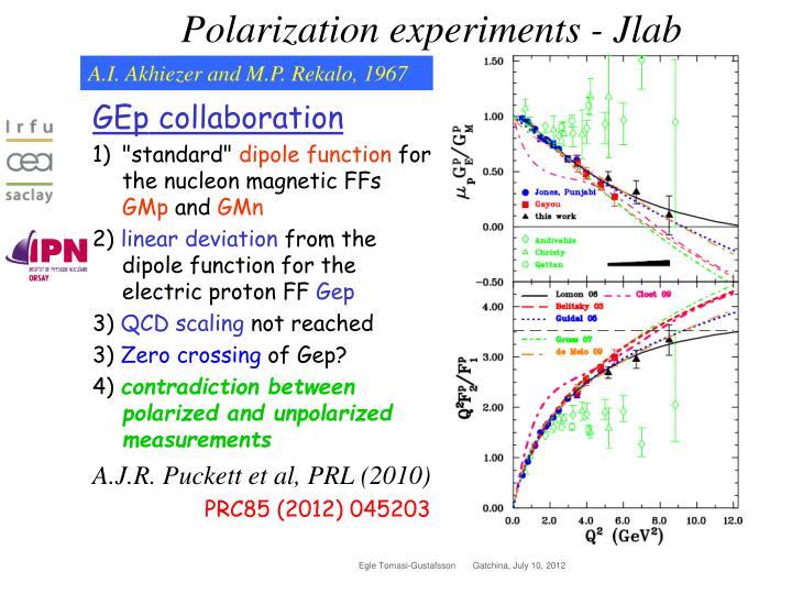 Polarization experiments -