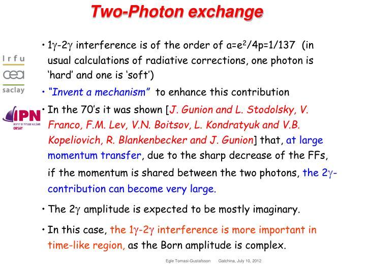 Two-Photon exchange