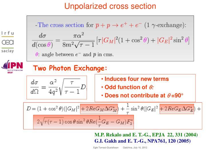 Unpolarized cross section
