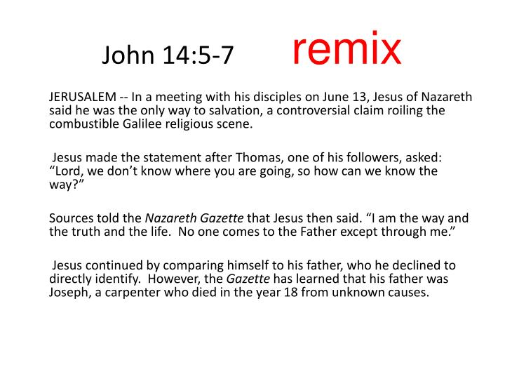 John 14:5-7