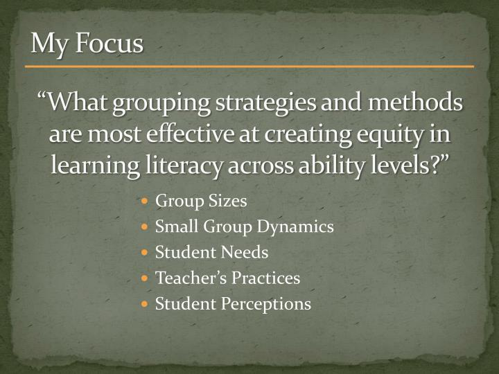 """What grouping strategies and methods are most effective at creating equity in learning literacy across ability levels?"""
