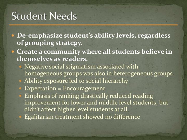 Student Needs