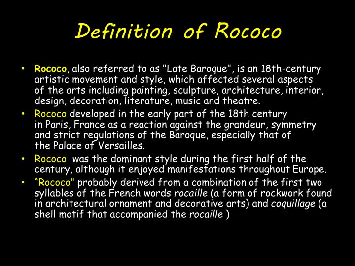 Ppt rococo powerpoint presentation id 1864103 for Define baroque style
