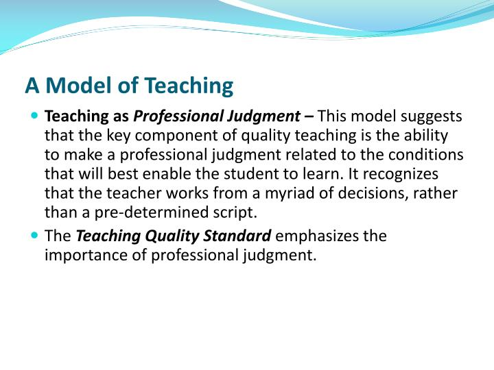A Model of Teaching