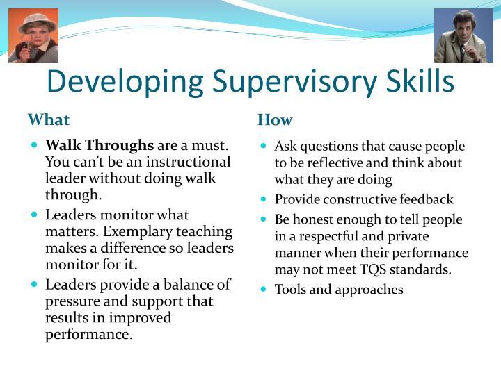 Developing Supervisory Skills
