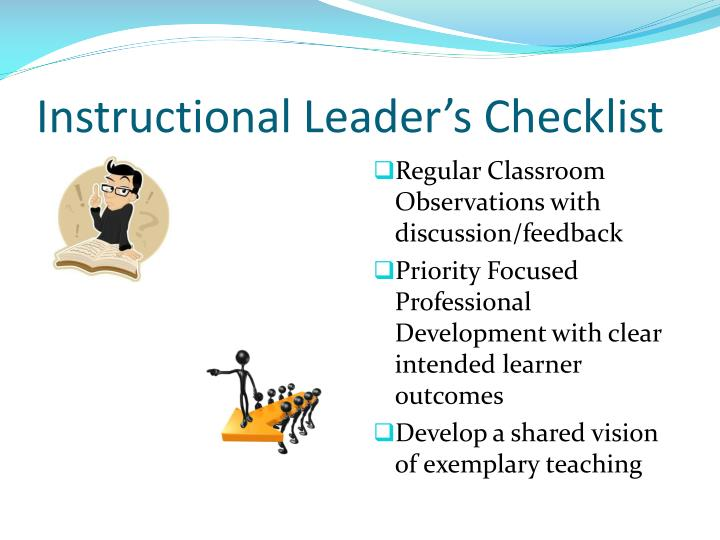 Instructional Leader's Checklist