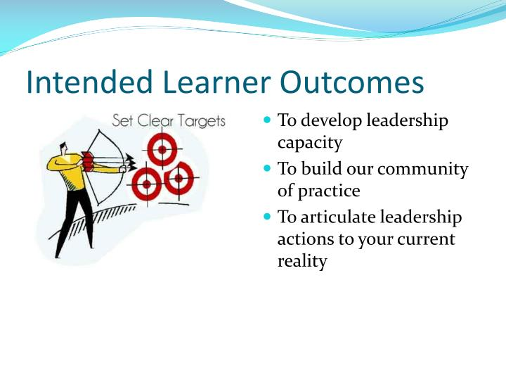 Intended Learner Outcomes