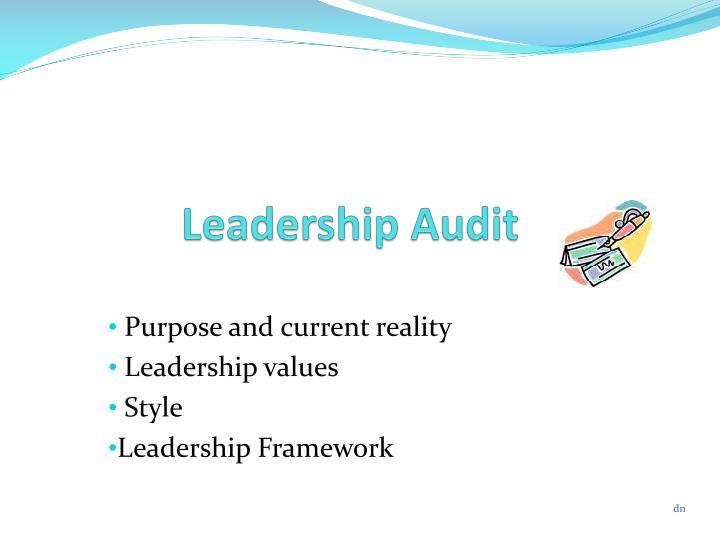 Leadership Audit