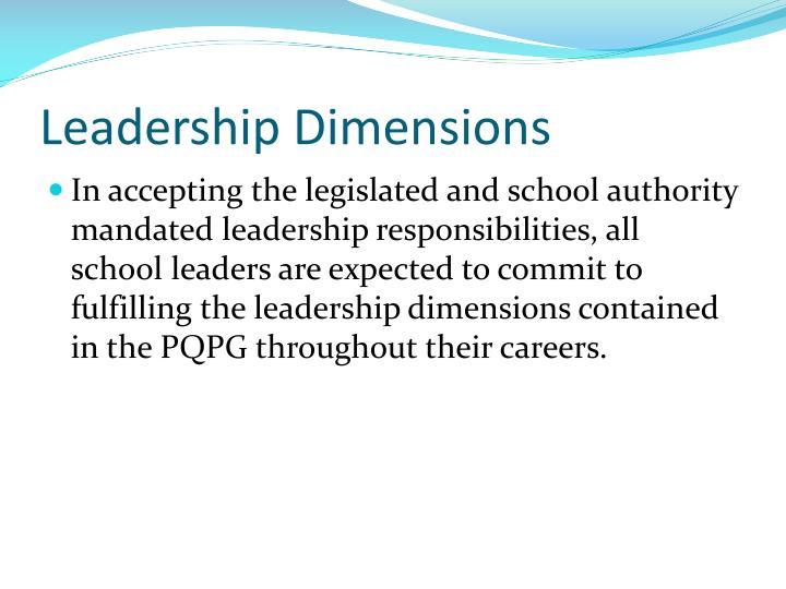 Leadership Dimensions