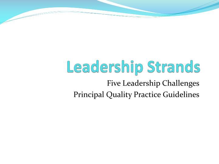 Leadership Strands