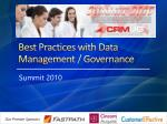 best practices with data management governance