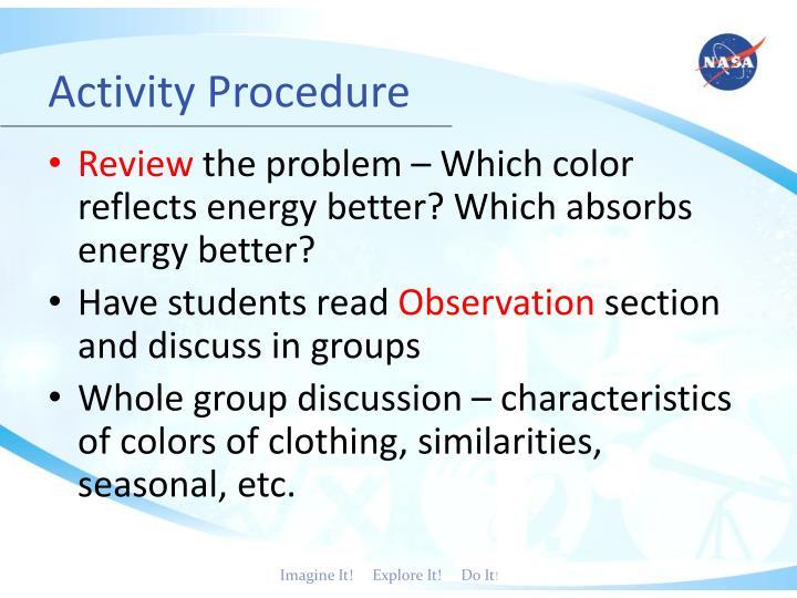 Activity Procedure