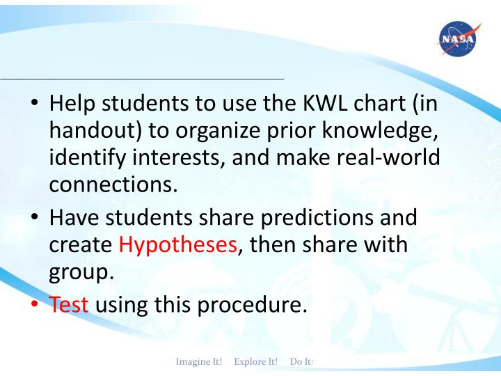 Help students to use