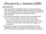 pleasant city v summum 20092