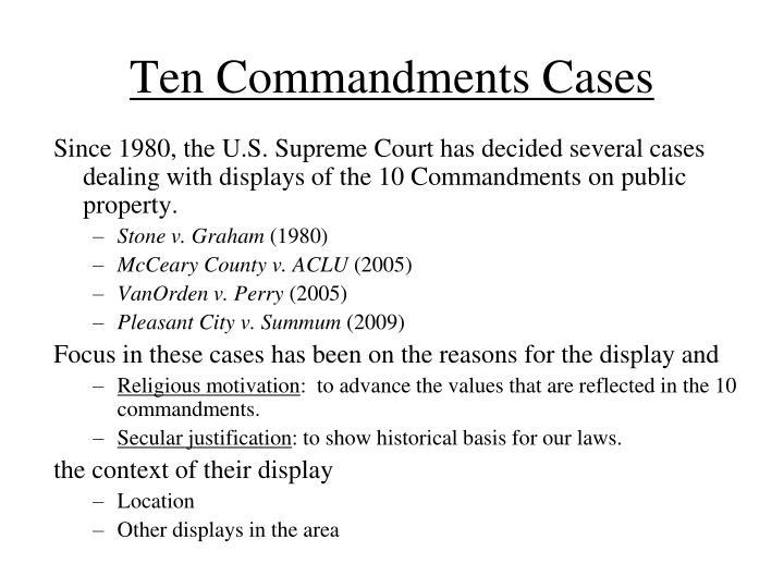 Ten Commandments Cases