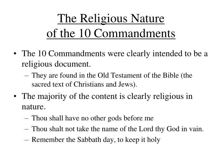 The Religious Nature
