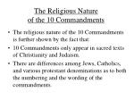 the religious nature of the 10 commandments1