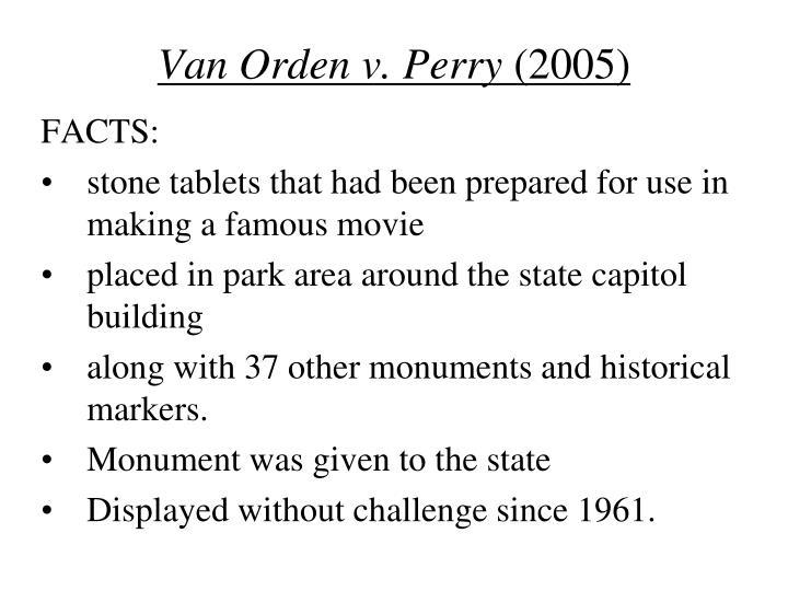 Van Orden v. Perry