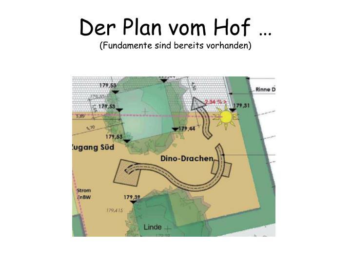 Der Plan vom Hof …