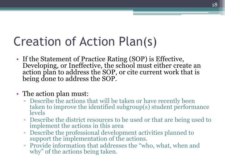 Creation of Action Plan(s)